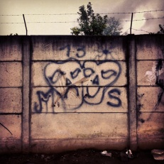 Not a good place to be...La Mara Salvatrucha (MS13) territory - graffiti in San Andres Itzapa
