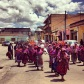 Mam Maya women parading San Miguel through the street of Quetzaltenango in the western highlands of Guatemala