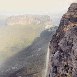 On top of Roraima, looking into Guyana